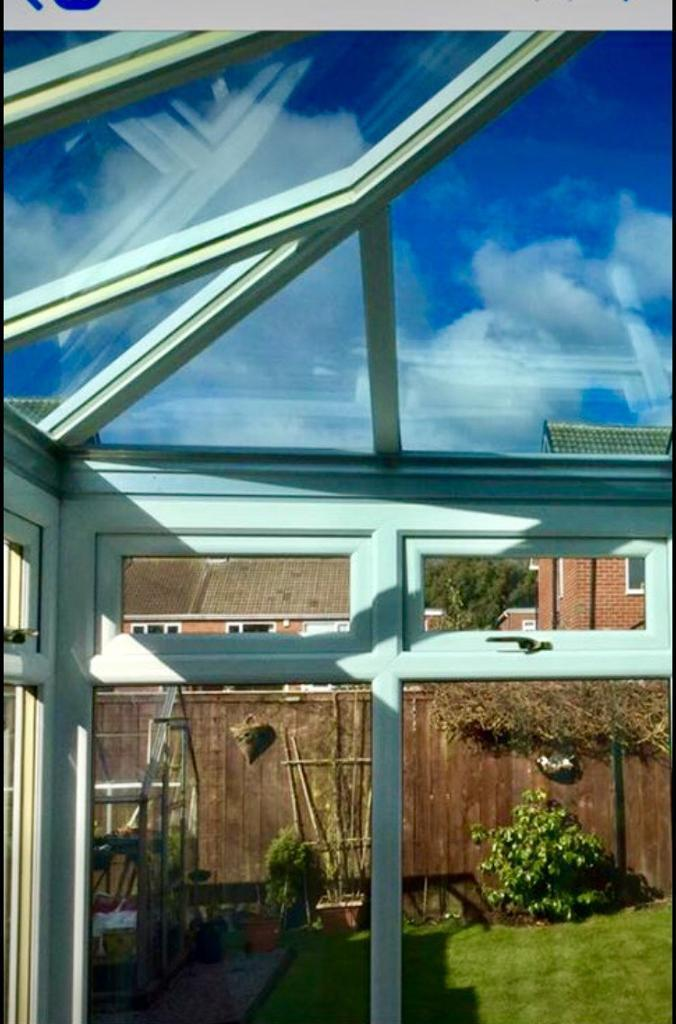 Global conservatory ROOF with activ blue glass. | in ...