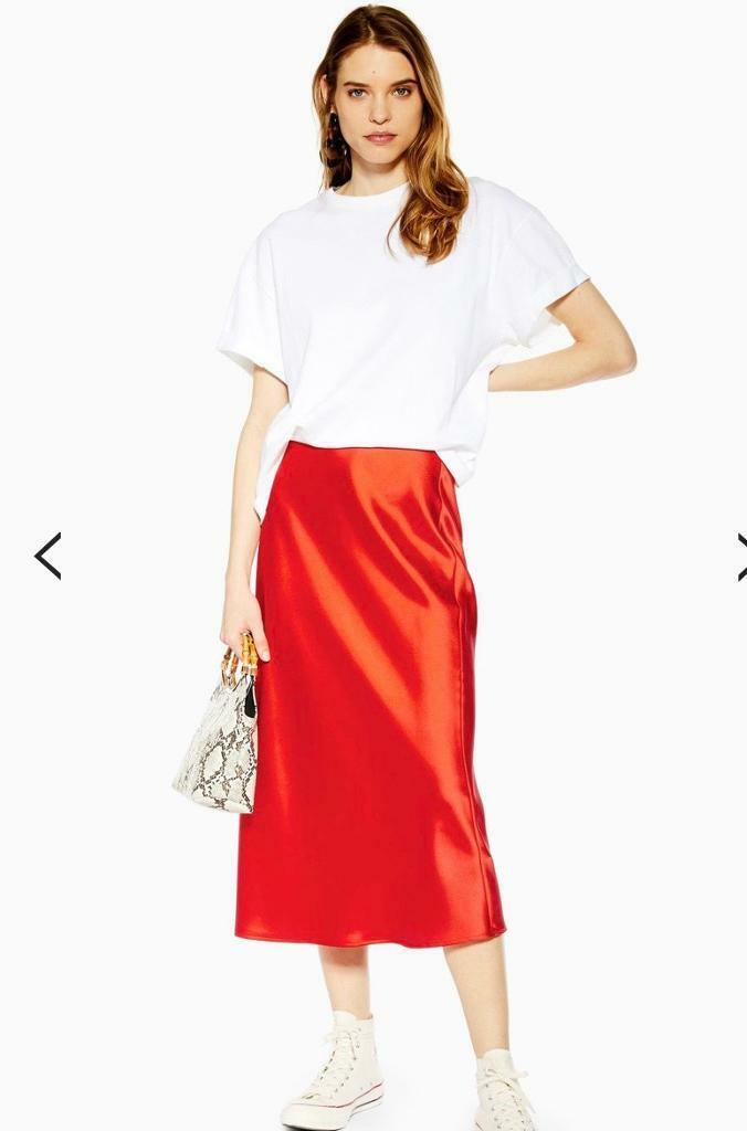 newest collection entire collection durable modeling Topshop Satin Bias Midi Skirt 8 BNWT | in Maida Vale, London | Gumtree