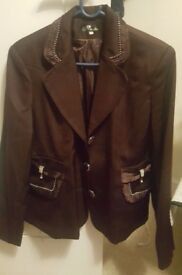 Womens 3 Piece Brown Skirt Suit **Good Condition**