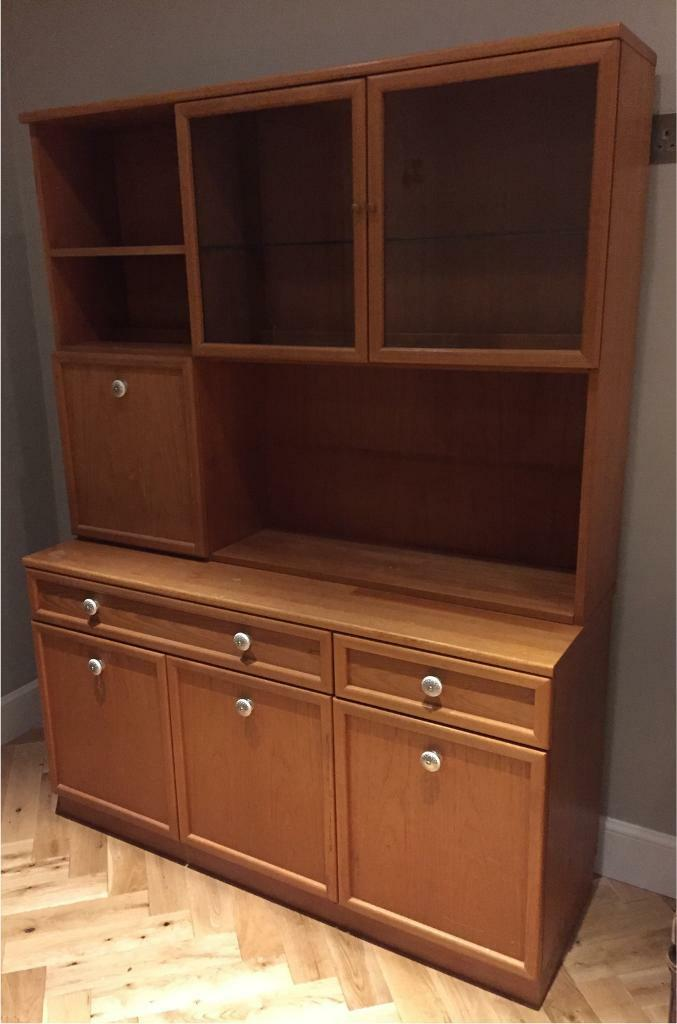 Sideboard with cupboards and shelving