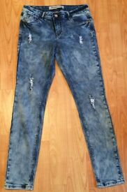 Ladies New look ripped jeans size 12