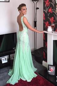 Blush 9913 honeydew prom dress , size 8