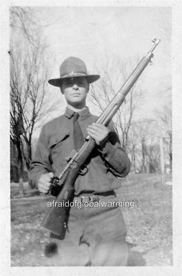 Photo 1919 Kansas National Guardsman   Coal Strikes