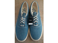 NEXT Men's / Boy's Canvas shoes - Light denim blue - UK 8 - NEW - RRP £25