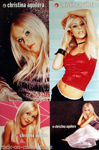Christina Aguilera 1999 Rare Original Self Titled Double Sided Promo Poster