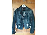Genuine vintage style leather jacket, size 8. £25.