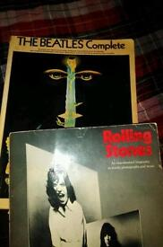 Beatles complete and rolling stones songbooks