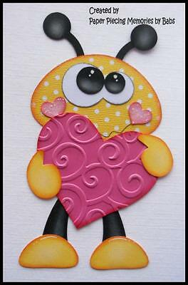Love Bug Premade Paper Piecing for Scrapbook Pages by Babs