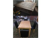 Dining table with 4 leather chair and coffee table good condition£130 collection only