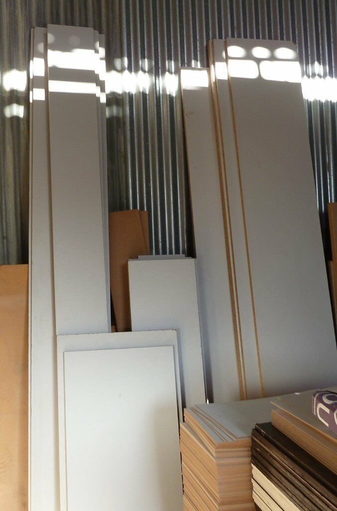 17 Piece Bundle of NEW 25mm EGGAR Commercial Grade, Grey Melamine Chipboard