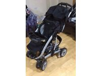 GRACO Pushchair. Raincover and Baby Carrier Cot included - £25