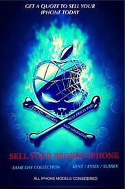 BROKEN IPHONES IPADS BROUGHT FOR CASH