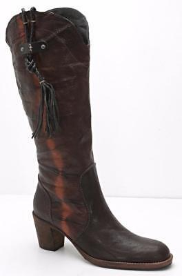 Henry Beguelin Womens Braun Distressed-Leather Cowboy-Western Stiefel 8-38 Neu - Distressed Braun Cowboy Stiefel