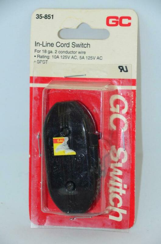 NEW GC Electronics ON OFF In Line Cord 18G 2 Conductor Wire Switch 35-851