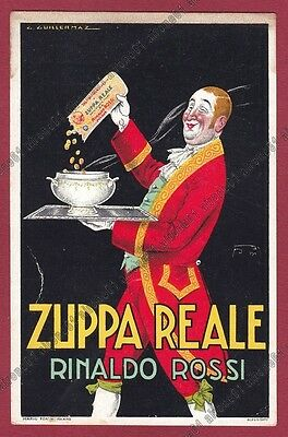 Artist Signed GUILLERMAZ Zuppa Reale Rinaldo Rossi advertising PUBBLICITARIA
