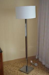 Lighting from fine Hotels; Chrome floor lamps, wood floor lamps, fluted pillar style floor lamps, crystal, brass etc.