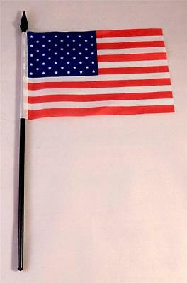 """12 USA Stick Flags 4""""x 6"""" Old Glory Patriotic Events"""