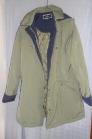 Barden waterproof winters coat, size 14 green in colour.