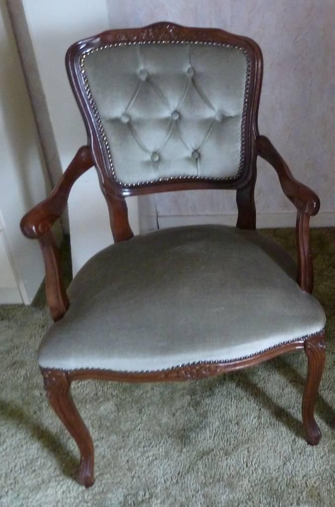 Antique Green wooden bedroom chair