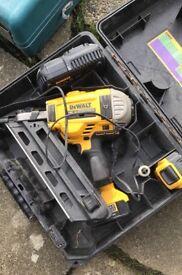 Dewault 1st fix nail gun and Makita Router