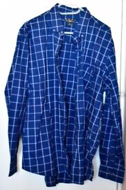 Blue And White Club Room Checkered Shirt (XL) - NEW