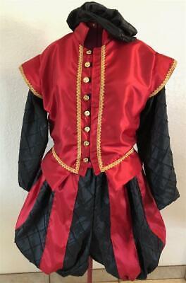 S XL Mens Elizabethan Renaissance Hamlet Shakespeare Doublet /& Slops//Breeches