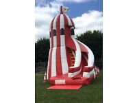INFLATABLE HELTER SKELTER BOUNCY CASTLE for hire / Popcorn & Candy Floss + more / Essex & London