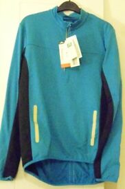 Mens Crane Winter Cycling Shirt. Blue. – Size Medium