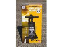 Air Hammer inflation pump.