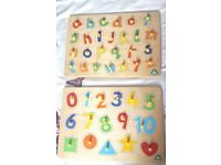 2 x Educational Wooden Puzzles from ELC