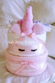 Baby Girl Unicorn Nappy Cake