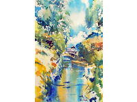 Artist will offer one to one teaching in watercolour painting .