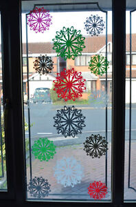 15-x-home-shop-christmas-window-decorations-snowflake-stickers-self-cling