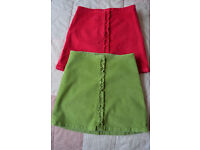 2 Gap girls velvet skirts (size 4 years)