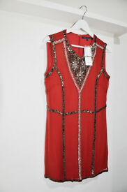 DRESS (FRENCH CONNECTION) Silk Beaded Dress Condition:New with tags