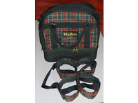 Lawn Bowls bag by Welkin in dark green with removable 4 bowl carrier.