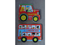 2 Marion Billet board books: 'My First Tractor' & 'My First London Bus'