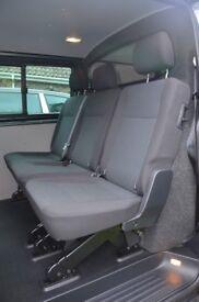 VW Transporter T6 Rear Triple Kombi Seat & Bulkhead