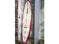 "'Local Hero' Surfboard by Graeme Bunt - 7'8"" Mini Mal design - very good condition"