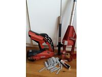 HILTI GX 120-ME nailgun + 50 inch extention + 580 nails and 1 gas