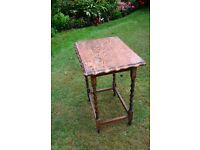 Period Hall Table circa 1920s with barley twist legs, solid but needs some renovation.