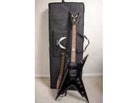 Dean Razorback Dimebag Electric Guitar, Black [+Semi-hard Case & Strap]