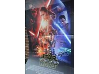 Giant Star Wars Force Awakens Promotional Display Baord