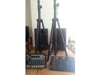 Yamaha Stagepas 300 with speaker stands and adaptors for bands / practices / events