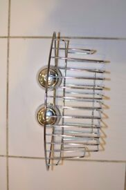 Croydex chrome twist'N'lock bath/shower shelves/baskets