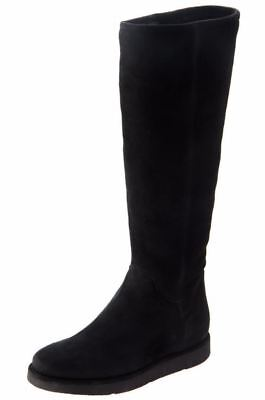 UGG COLLECTION CARMELA TALL SUEDE / SHEARLING BLACK BOOTS SIZE US 6/UK 4.5/EU - Carmela Collection