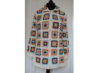 Crochet granny square sweater. Crochet hippie sweater / cardigan
