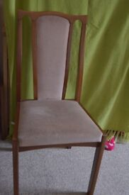 2 Teak Chairs with Dralon seat and back