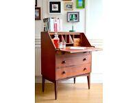 Vintage Danish style teak bureau / cabinet. Delivery. Modern / Mid century.