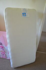 Cot Mothercare spring mattress with removable cover Perfect condition